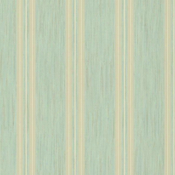 Threaded Stria Stripe Wallpaper In Aqua Design By York Wallcoverings