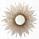 Sunburst Plain Glass Wall Mirror design by Twos Company
