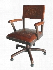 Swivel Office Chair Colonial Antique Brown