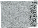 Thelma Throw Blankets in Silver Gray Color by Surya