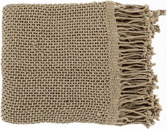 Tibey Throw Blankets In Tan Color By Surya