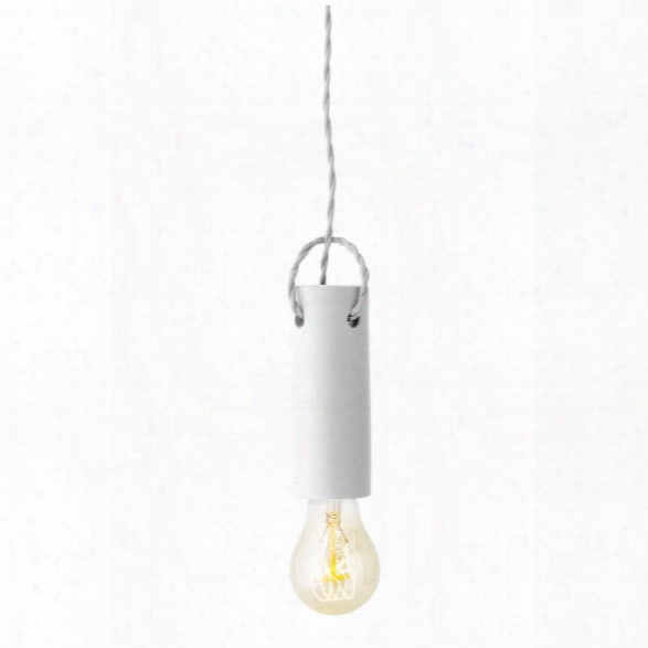Tied Pendant Light In White Design By Menu