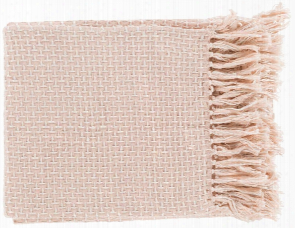 Tierney Throw Blankets In Pale Pink Color By Surya