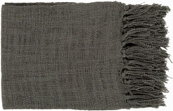 Tilda Throw Blankets In Black Color By Surya