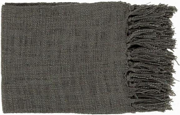 Tilda Throw Blankets In Black Color By Surya