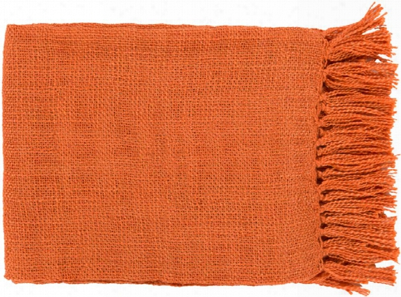 Tilda Throw Blankets In Coral Color By Surya