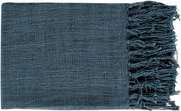 Tilda Throw Blankets In Navy Color By Surya