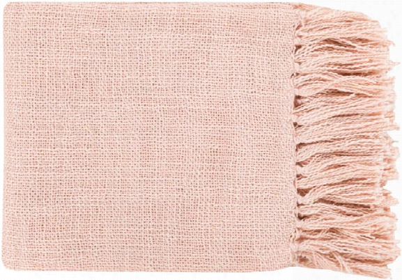 Tilda Throw Blankets In Pale Pink Color By Surya