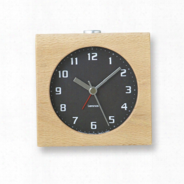 Block Alarm Clock In Black Design By Lemnos