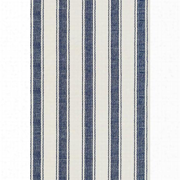 Blue Awning Stripe Indoor/outdoor Rug Design By Dash & Albert
