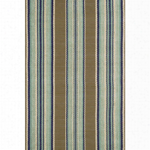 Blue Heron Stripe Indoor/outdoor Rug Design By Dash & Albert
