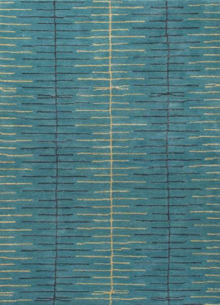 Blue Rug In Bayou & Golden Green Design By Jaipur