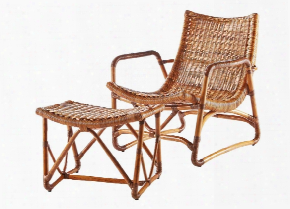 Bodega Lounge Chair & Ottoman In Natural Design By Selamat