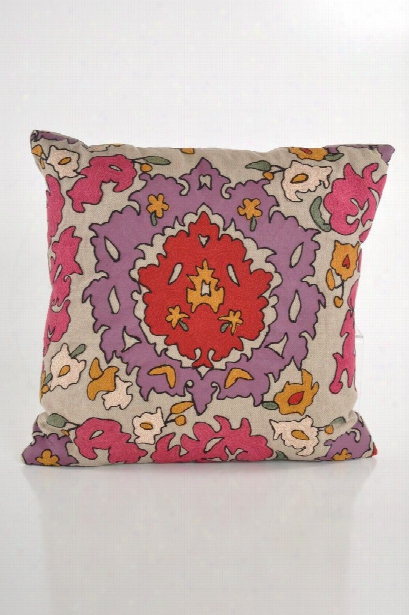 "Bohemian 20"" Pillow In Magenta Design By Baxter Designs"