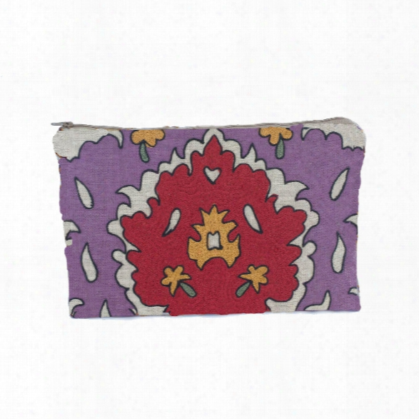 Bohemian Zipper Pouch In Magenta Design By Baxter Designs