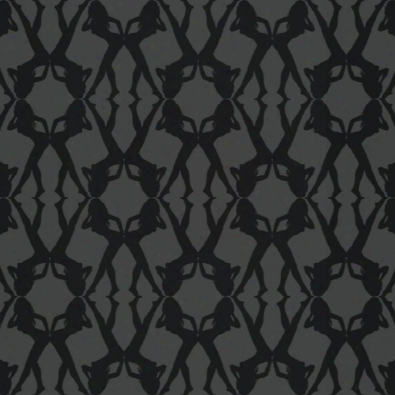 Bond Girls Wallpaper In Black Design By York Wallcoverings