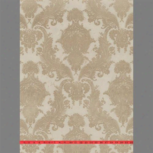 Bone Heilroom Velvet Flocked Wallpaper Design By Burke Decor