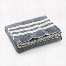 Trapper Wool Throw in Navy design by Faribault