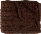 Tucker Throw Blankets in Dark Brown Color by Surya