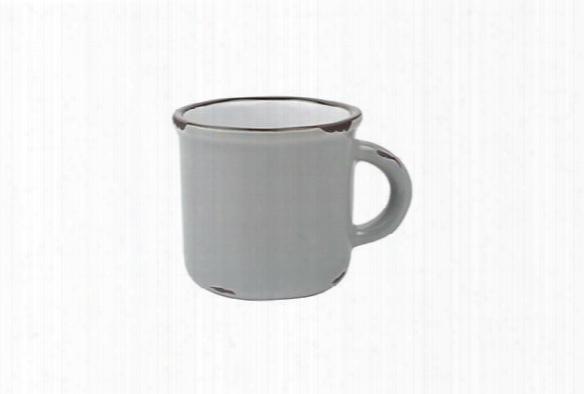 Tinware Espresso Mug In Light Grey Design By Canvas