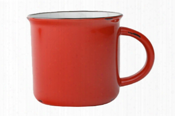 Tinware Mug In Red Design By Canvas