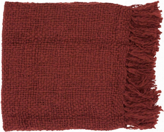 Tobias Throw Blankets In Garnet Color By Surya