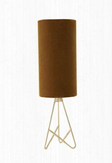 Toko Table Lamp In Amber & Velvet Design By Oyoy