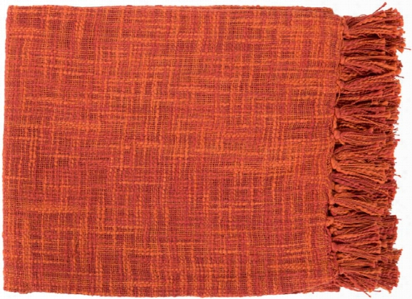 Tori Throw Blankets In Burnt Orange Color By Surya