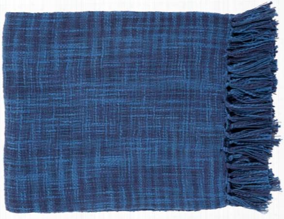 Tori Throw Blankets In Dark Blue Color By Surya