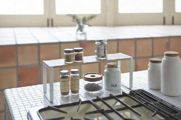 Tosca Wide Kitchen Rack In White Design By Yamazaki