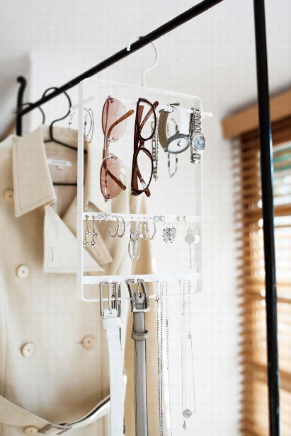 Tower Accessory & Glasses Hanger In Various Colors Design By Yamazaki