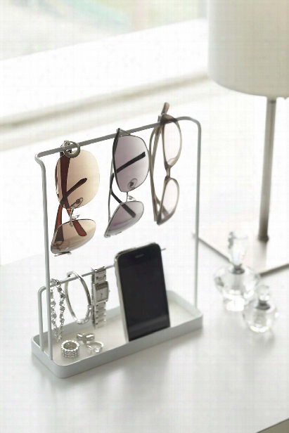Tower Accessory & Glasses Stand In Various Colors Design By Yamazaki