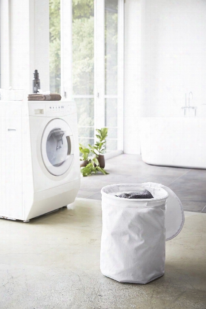Tower Collapsible Laundry Hamper In Various Colors Design By Yamazaki