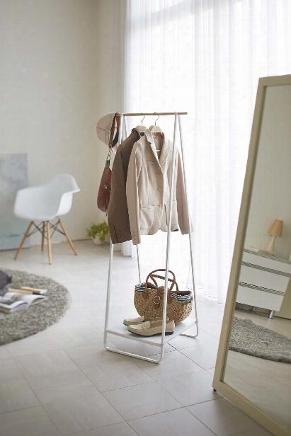 Tower Free Standing Hanger In White Design By Yamazaki