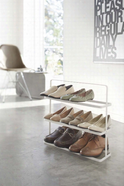 Tower Shoe Rack Wide In Various Colors Design By Yamazaki