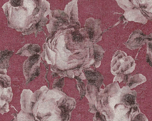 Traditional Floral Wallpaper In Reds And Grey Design By Bd Wall