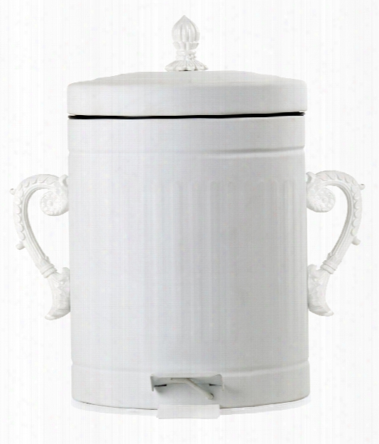 Trash Chic Metal Trash Can In White Design By Seletti