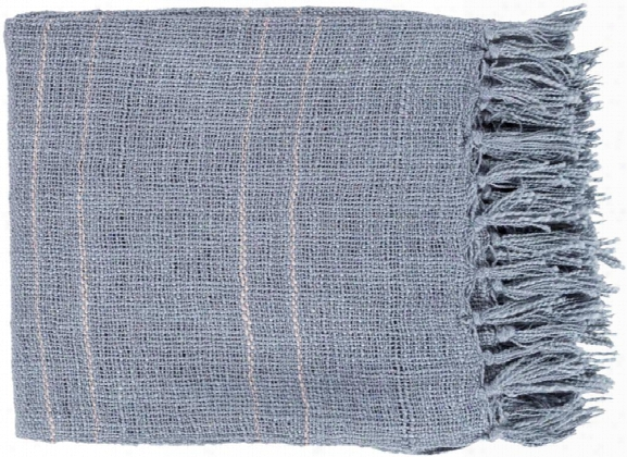 Traveler Throw Blankets In Denim Color By Surya