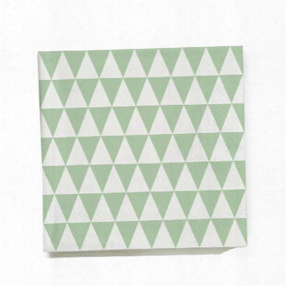 Triangle Paper Napkin In Green Design By Ferm Living