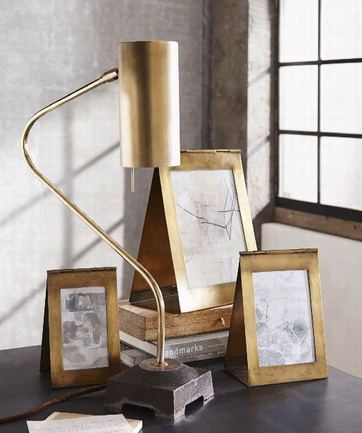 Triangolo Antiqued Brass Frames By Roost