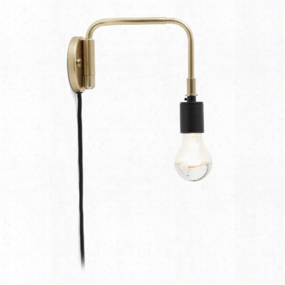 Tribeca Staple Wall Lamp In Brass Design By Menu