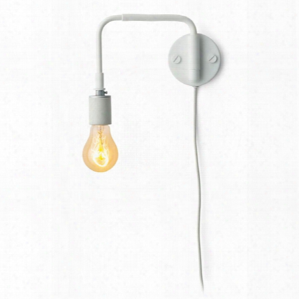 Tribeca Staple Wall Lamp In White Design By Menu