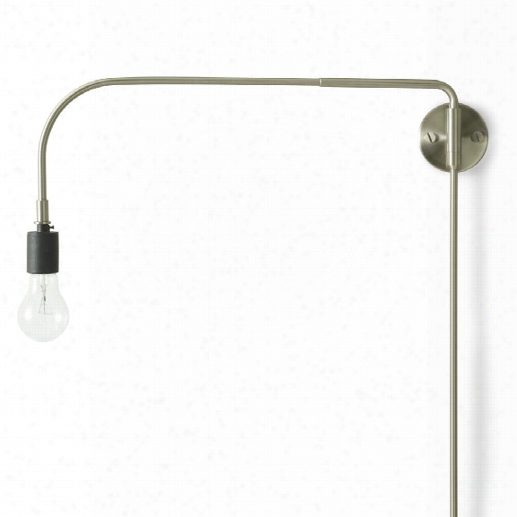 Tribeca Warren Wall Lamp In Brushed Steel Design By Menu
