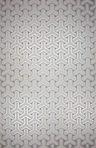 Trifid Wallpaper In Grey And Silver Metallic Color By Osborne & Little