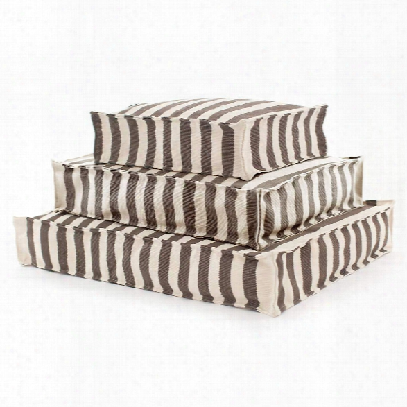 Trimaran Stripe Charcoal/ivory Indoor/outdoor Wouf Design By Fresh American