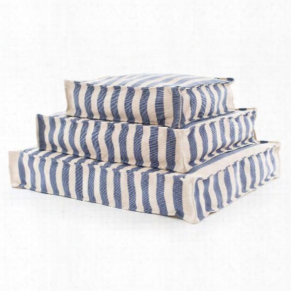 Trimaran Stripe Denim/ivory Indoor/outdoor Wouf Design By Fresh American