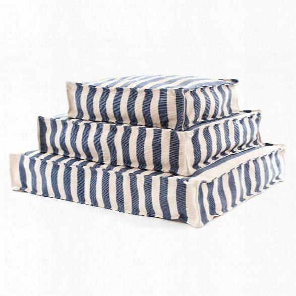 Trimaran Stripe Navy/ivory Indoor/outdoor Wouf Design By Fresh American