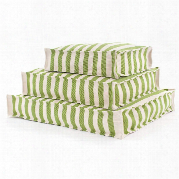 Trimaran Stripe Sprout/ivory Indoor/outdoor Wouf Design By Fresh American
