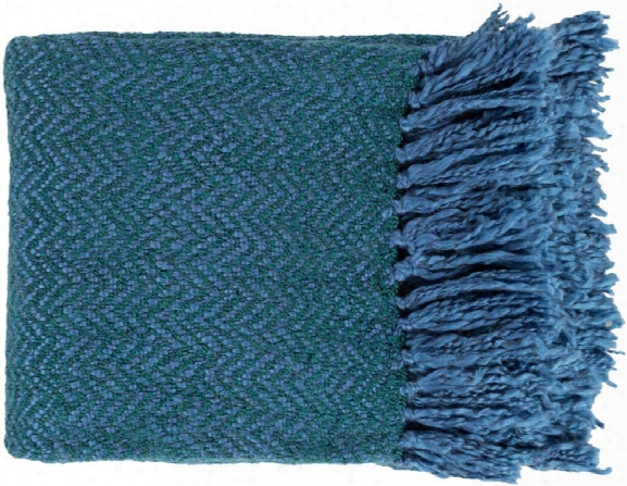 Trina Throw Blankets In Bright Blue Color By Surya