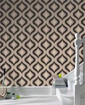 Trippy Charcoal Wallpaper Design By Graham And Brown